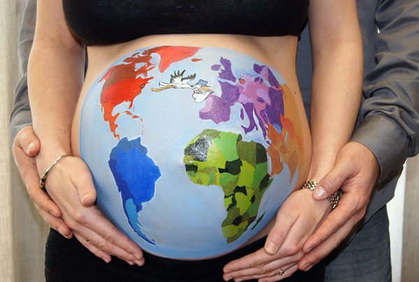 Kit di pittura per la pancia in gravidanza